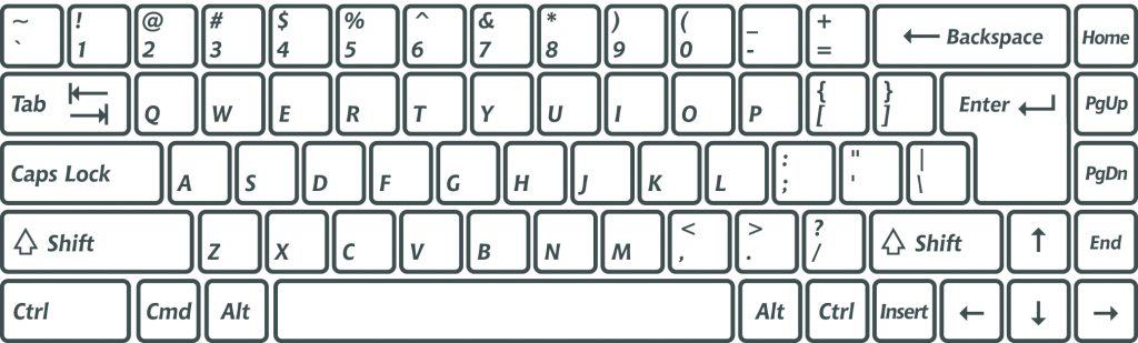 65 percent keyboard layout
