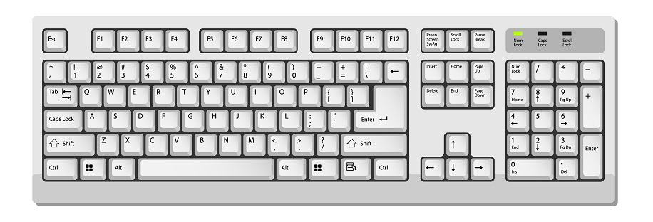 full keyboard layout